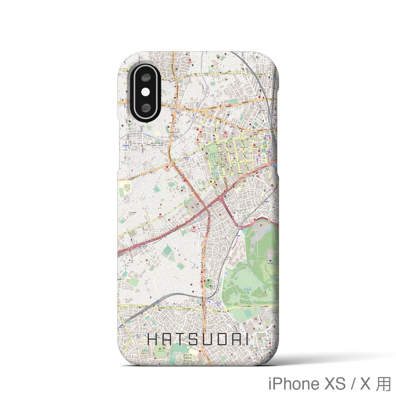 【初台】地図柄iPhoneケース(ナチュラル)