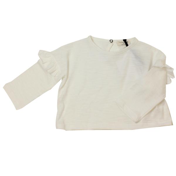 1+in the family フリル長袖Tシャツ