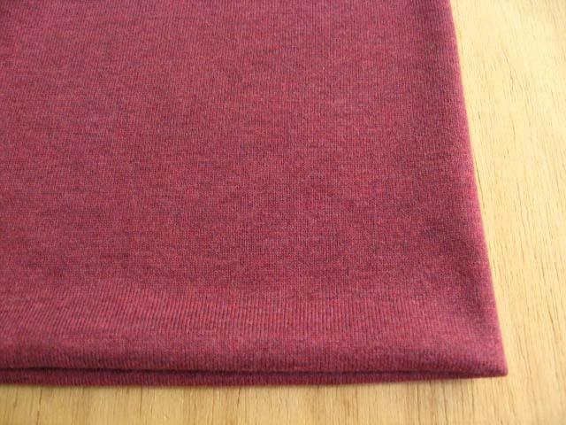 綿(トップ染糸)・テンセル混 杢調天竺ニット 杢ワイン NTM-2535