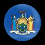 ゴーバッジ(ドーム)(CD0592 - FLAG NEW YORK US STATE) - 画像1