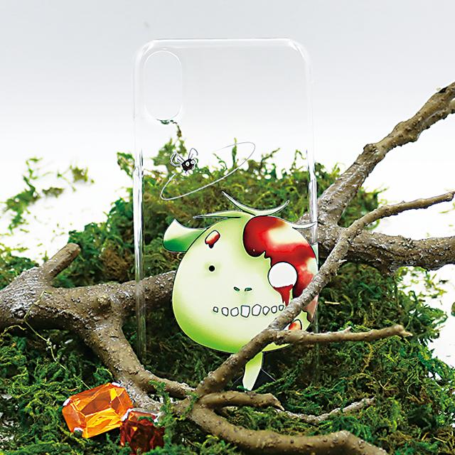 ゾンビとカメ 顔アップ スマホケース(iPhone用)