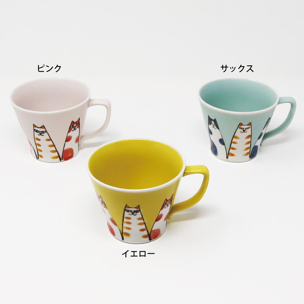 猫マグカップ(波佐見焼猫山)