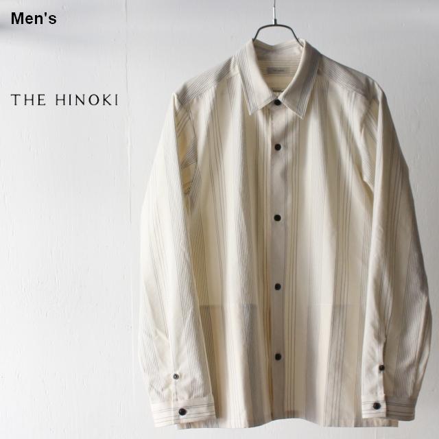 THE HINOKI オーガニックコットンレギュラーカラーシャツ TH19S-15 (ストライプ)