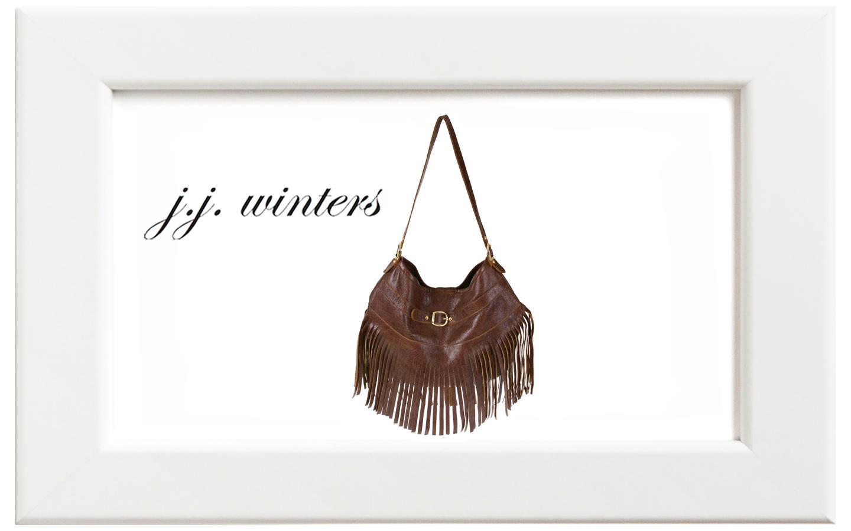 JJ winters/ジェイジェイ・ウィンターズ フリンジバッグ/ダークブラウン