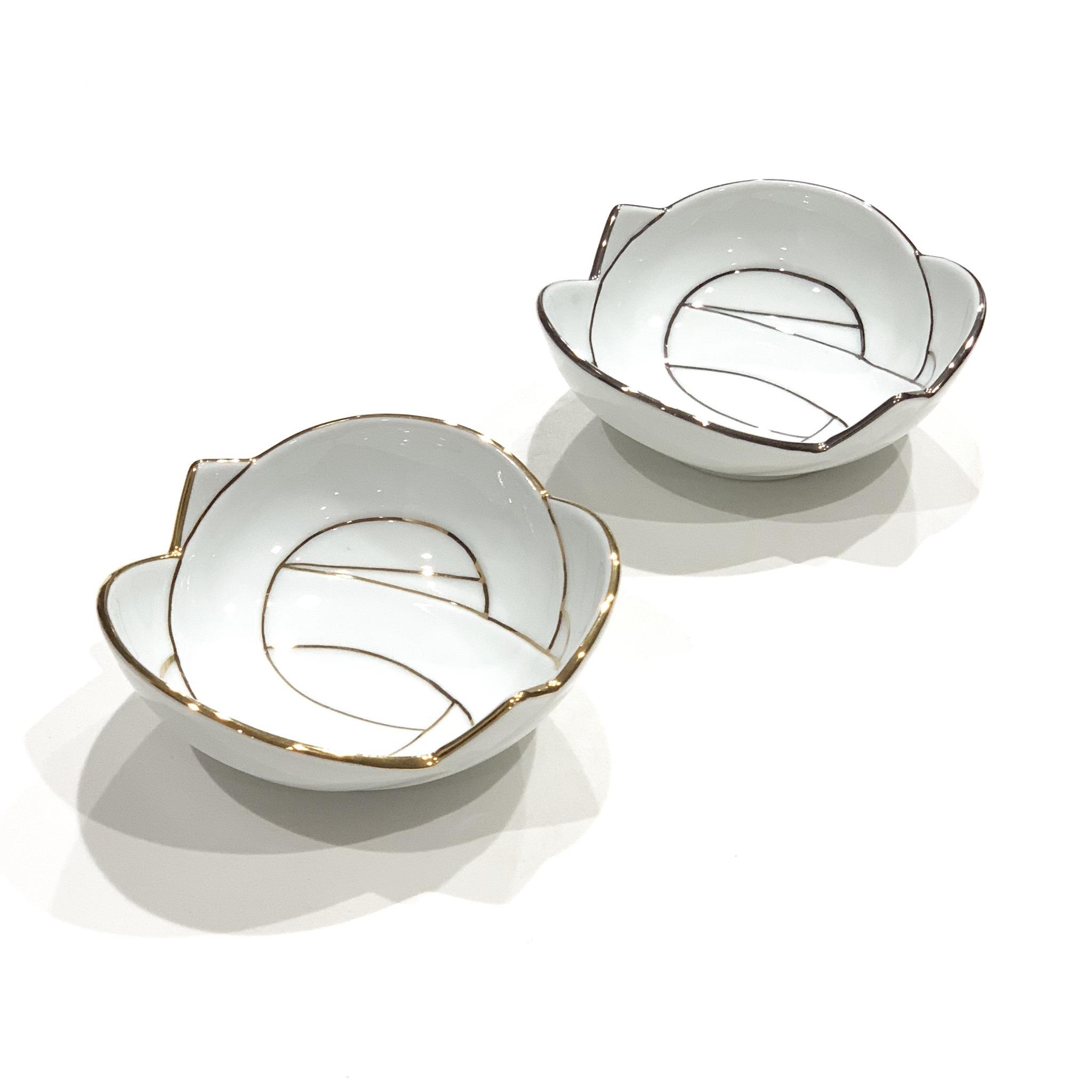 金線  銀線 結び 小鉢