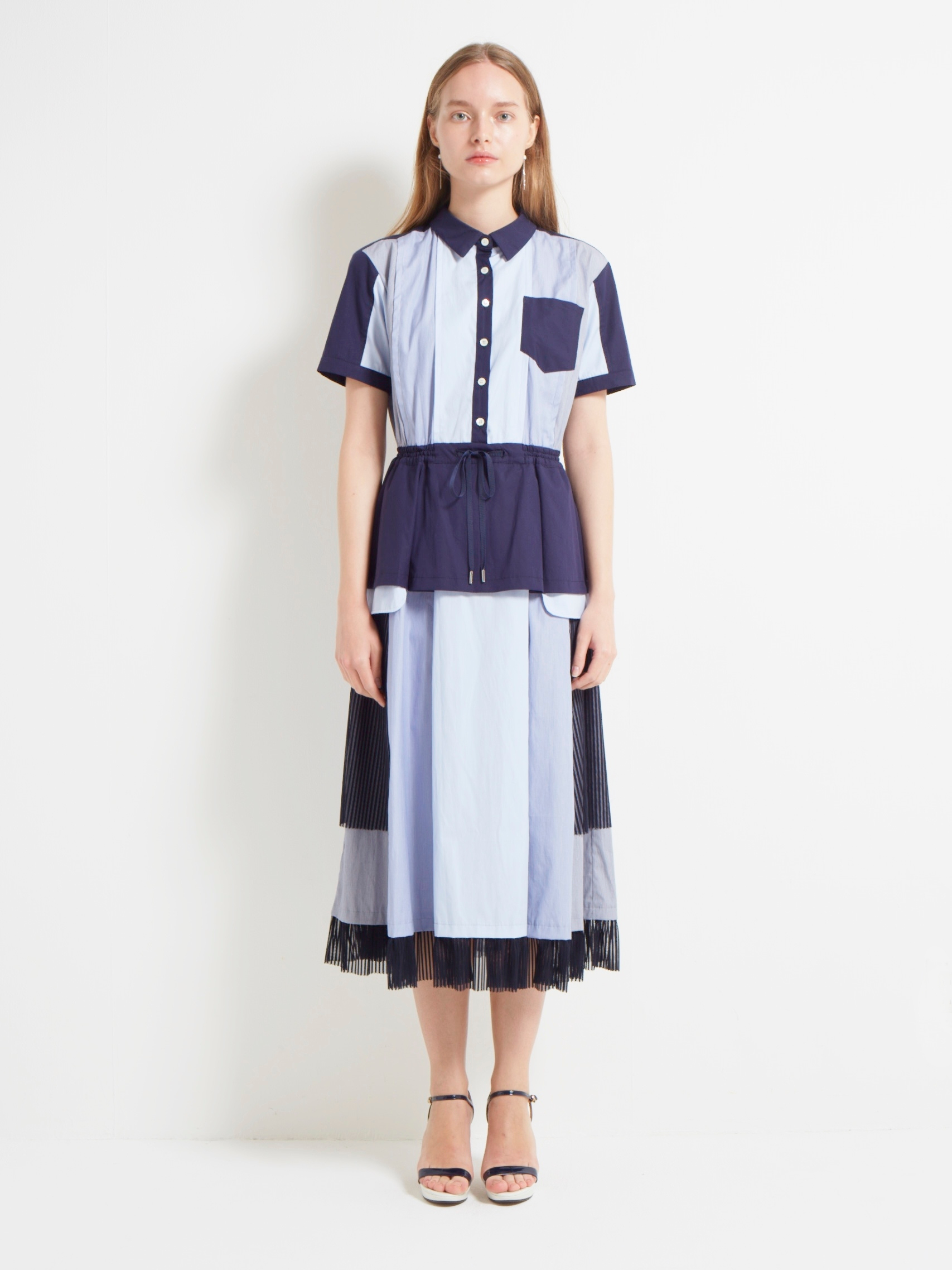 TYPEWRITER COMPLEX SHIRT DRESS