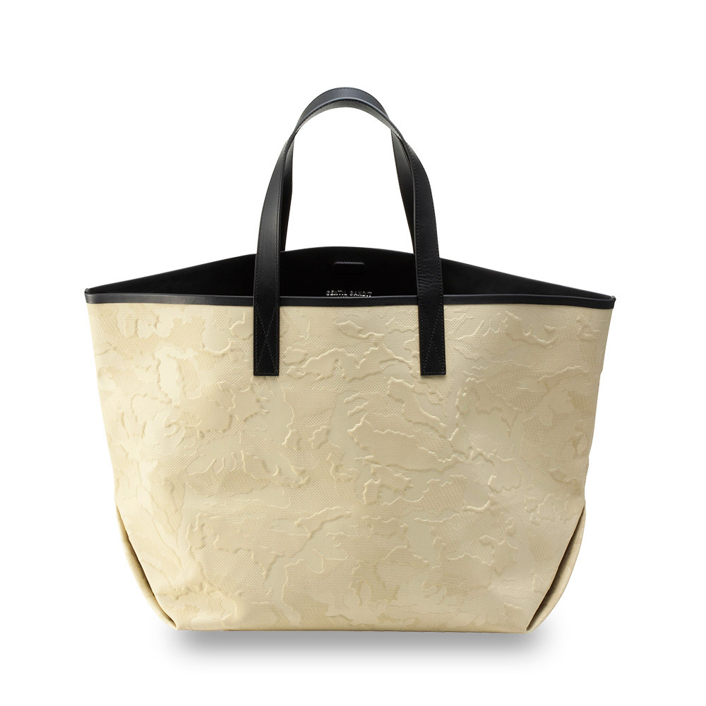 GRNTIL BANDIT LABEL NOIR CANVAS TOTE GM BEIGE