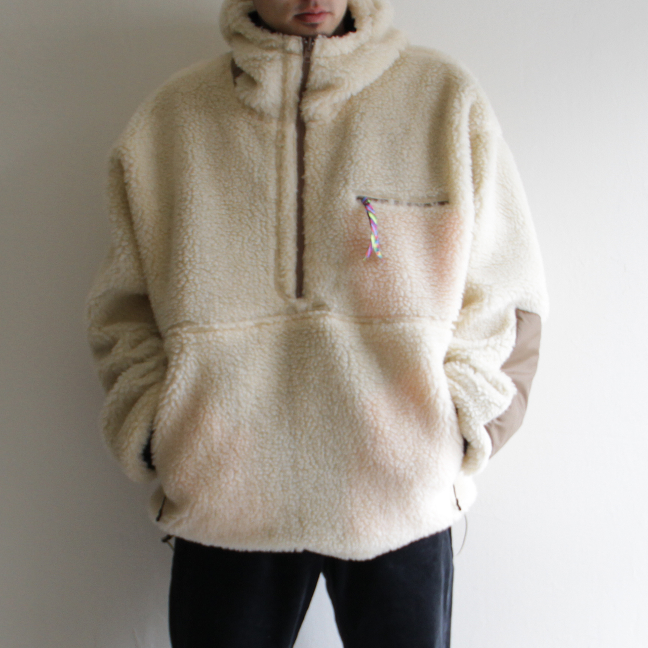 is-ness【 mens 】reversible pullover switching jacket