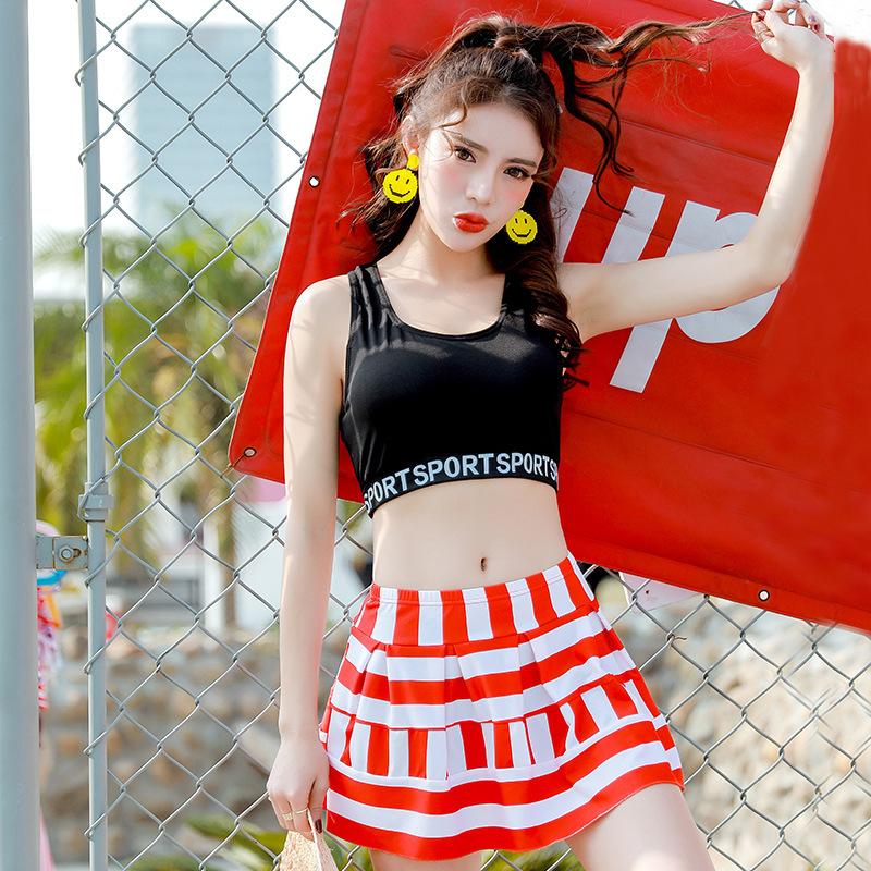 87a3f5af116 タンキニ風 ビキニ M〜XL スカート フリル スポーティ & フェミニンスタイル♡