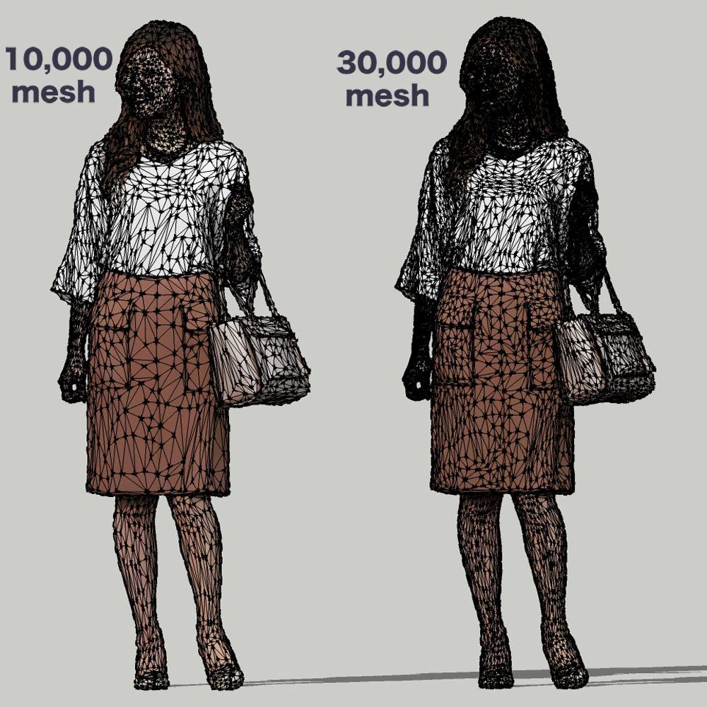 SketchUp素材 3D人物モデル ( Posed ) 051_Mao - 画像3