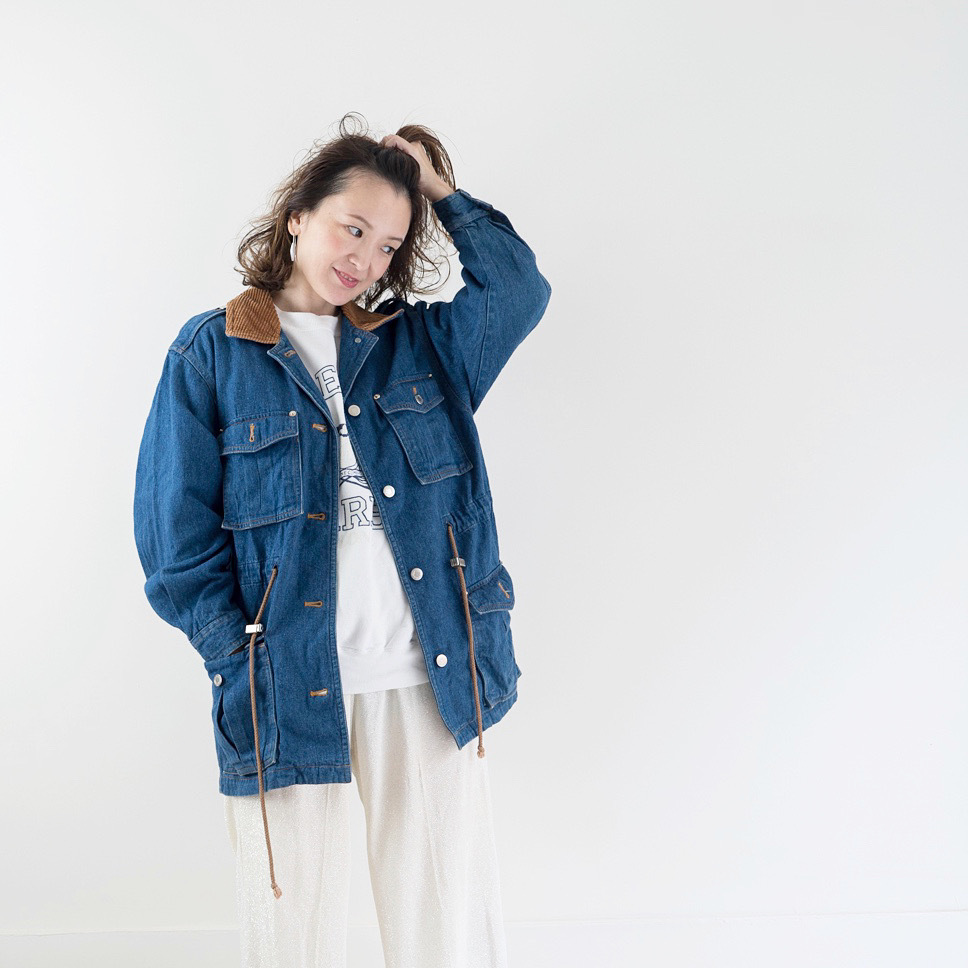 ◼︎80s vintage denim×corduroy jacket from U.S.A.◼︎