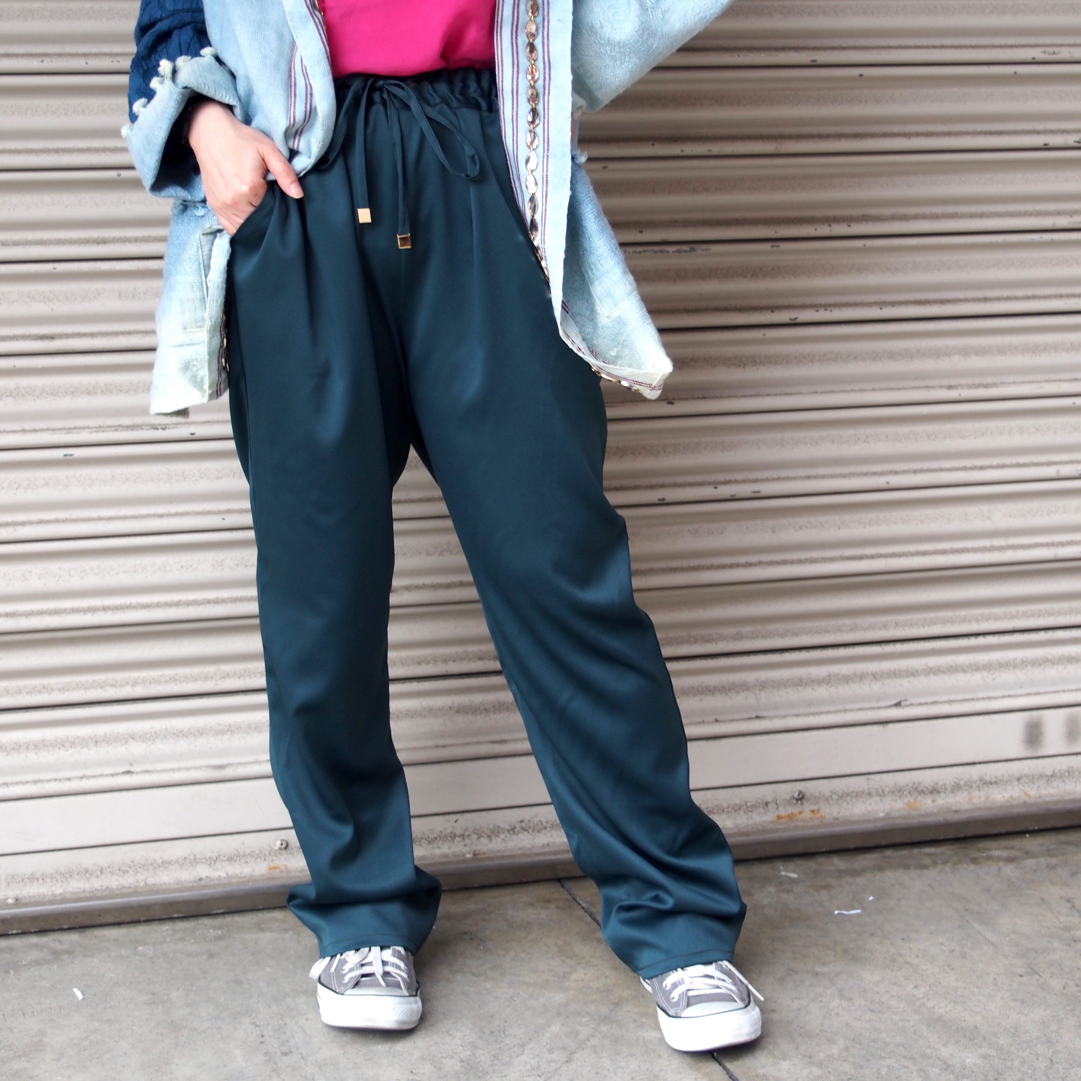 【ethical hippi】tapered pants(moss green) / 【エシカル ヒッピ】テーパード パンツ(モスグリーン)