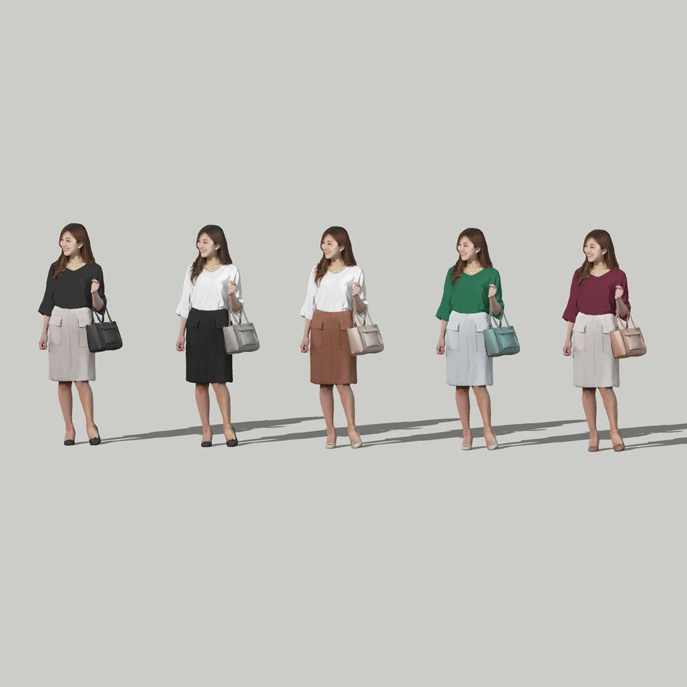 SketchUp素材 3D人物モデル ( Posed ) 051_Mao - 画像2