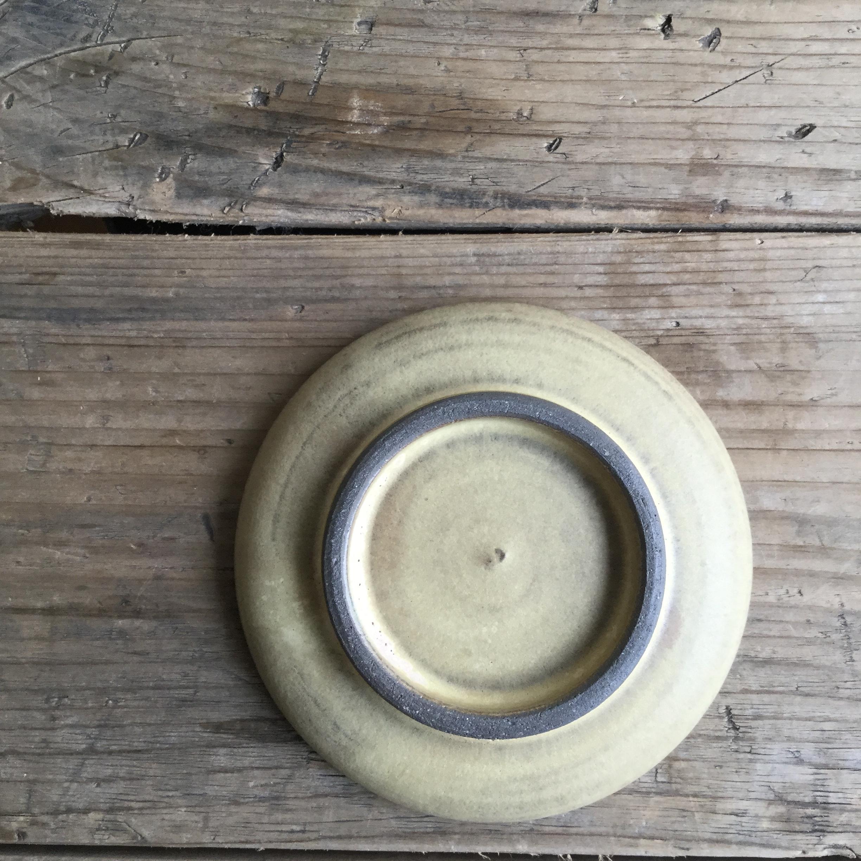 【大内瑤子】豆皿 黄  約φ9.5cm - 画像3