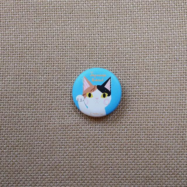 猫バッチ(Japanese Bobtail)