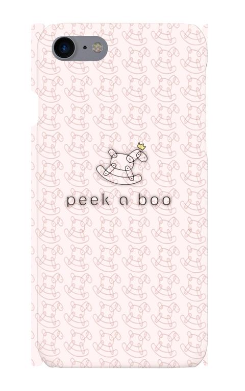 peek a boo ロゴ スマホカバー(iphone7/8)
