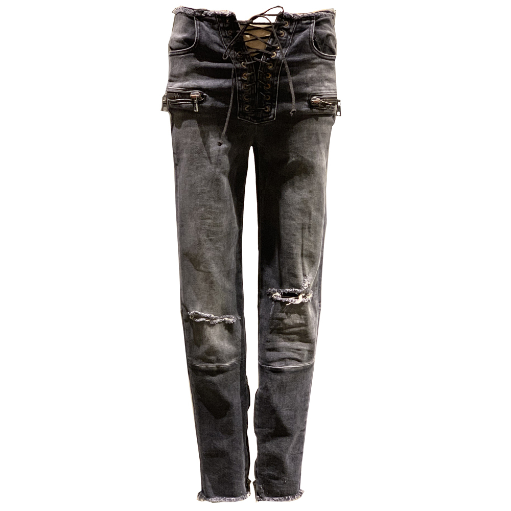 BEN TAVERNITI UNRAVEL Crashed Skinny Jeans Black