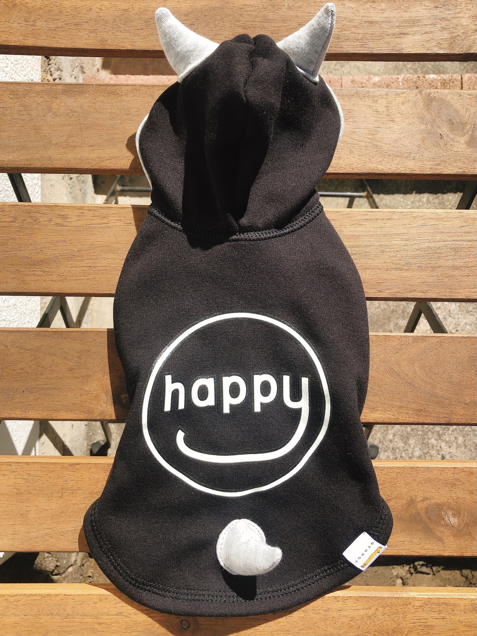 "HAPPY DEVIL HOODIE 20""/ブラック 3号"