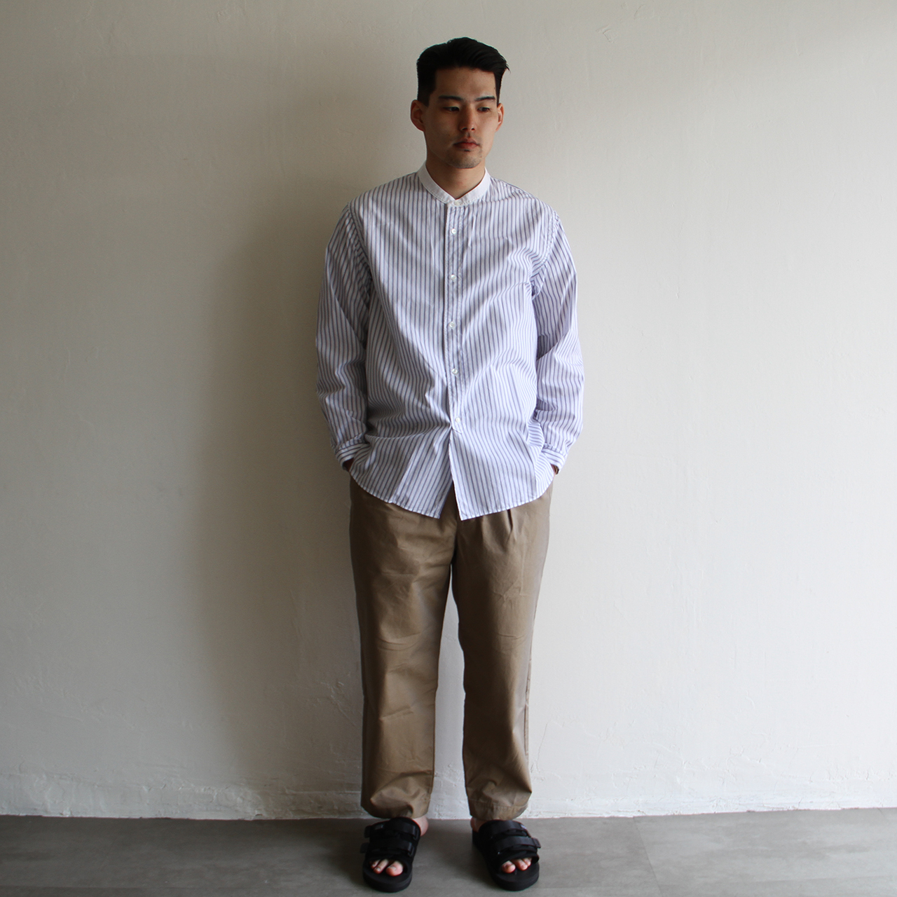 STILL BY HAND  【 mens 】stripe shirts