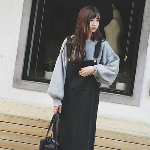 【dress】ノースリーブ無地シンプルハイウエストカジュアルワンピース15174427