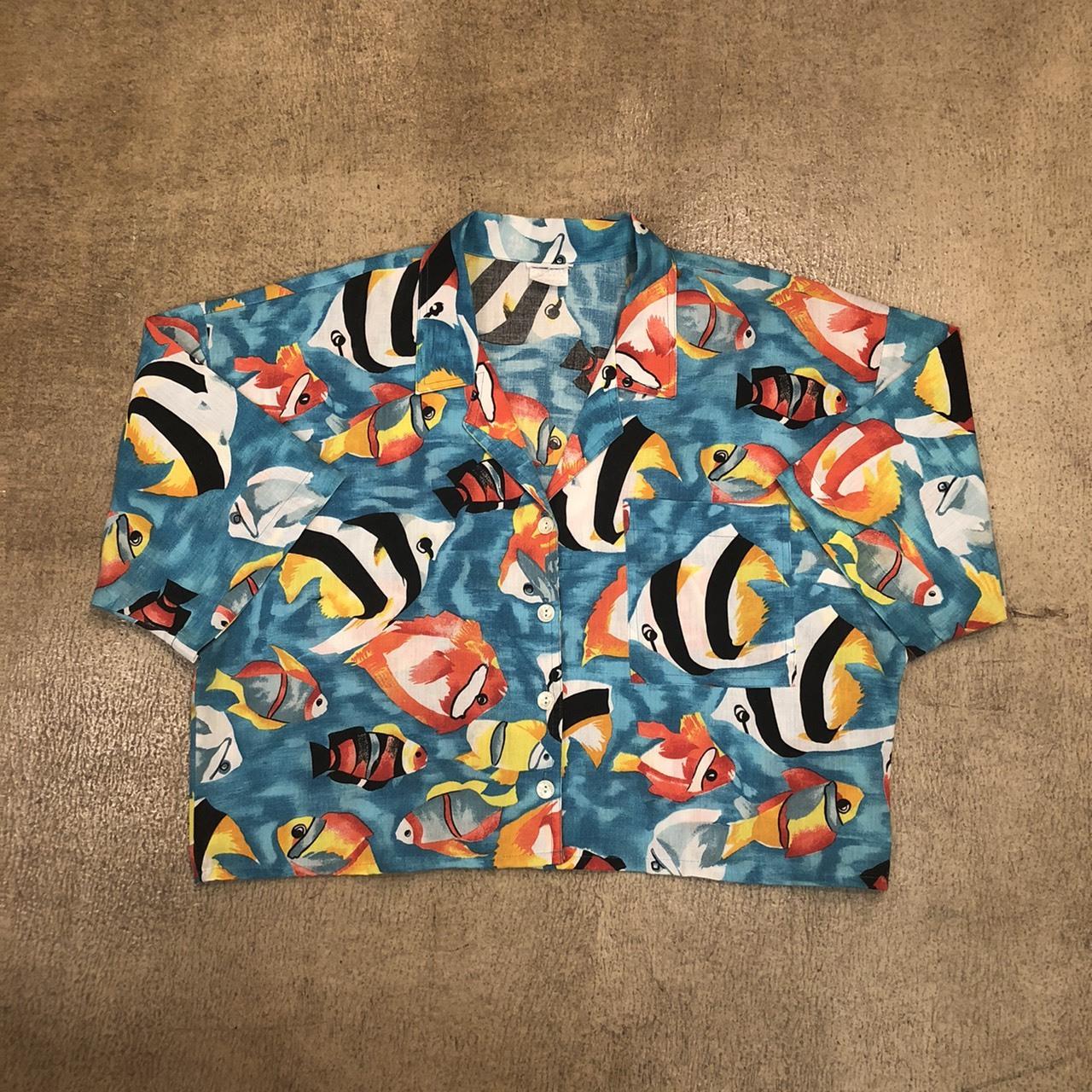 Remake Fish Print Aloha Shirts ¥5,900+tax