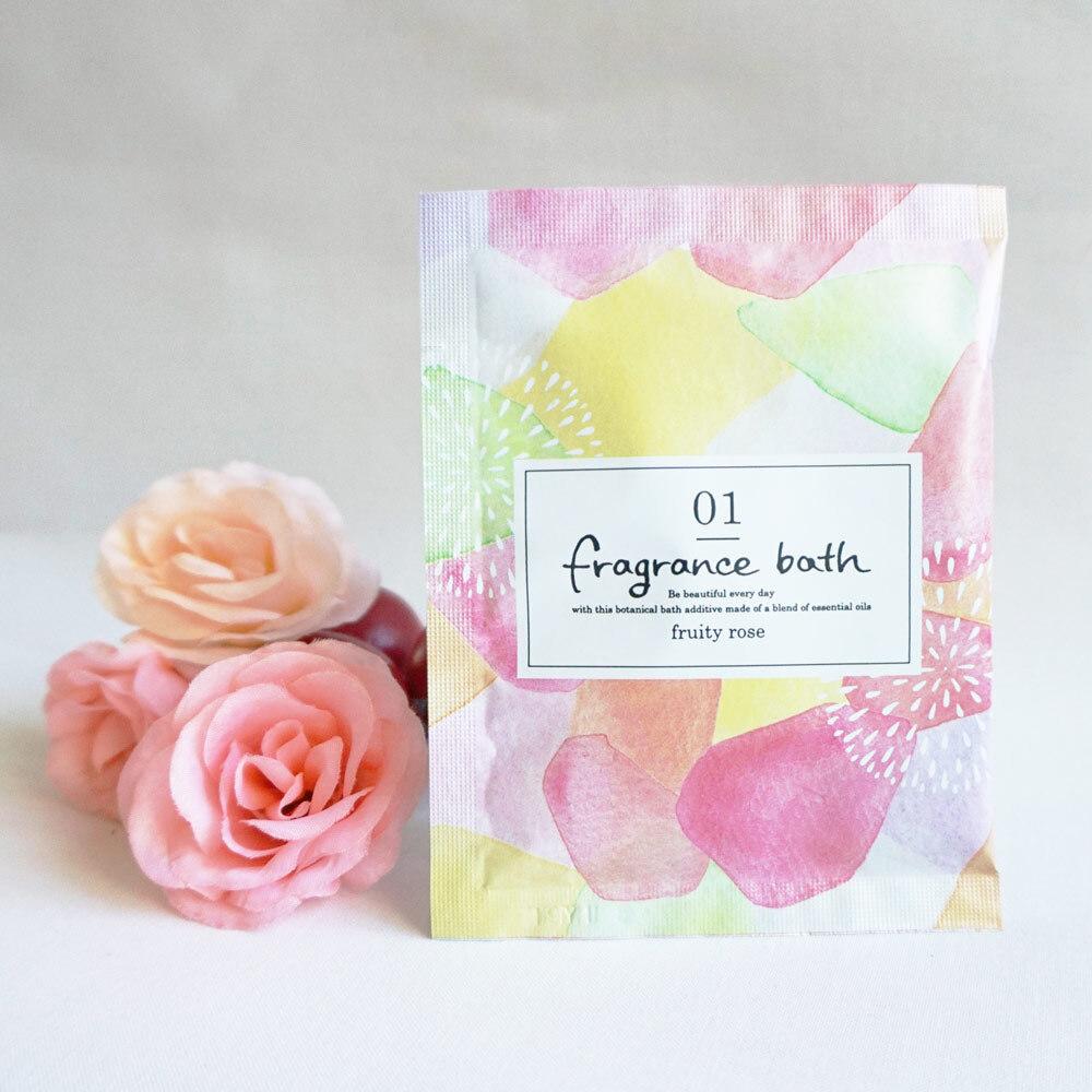フレグランスバス フルーティローズ 30g ×12包セット :12回分 入浴剤 フルーティローズの香り 6823912