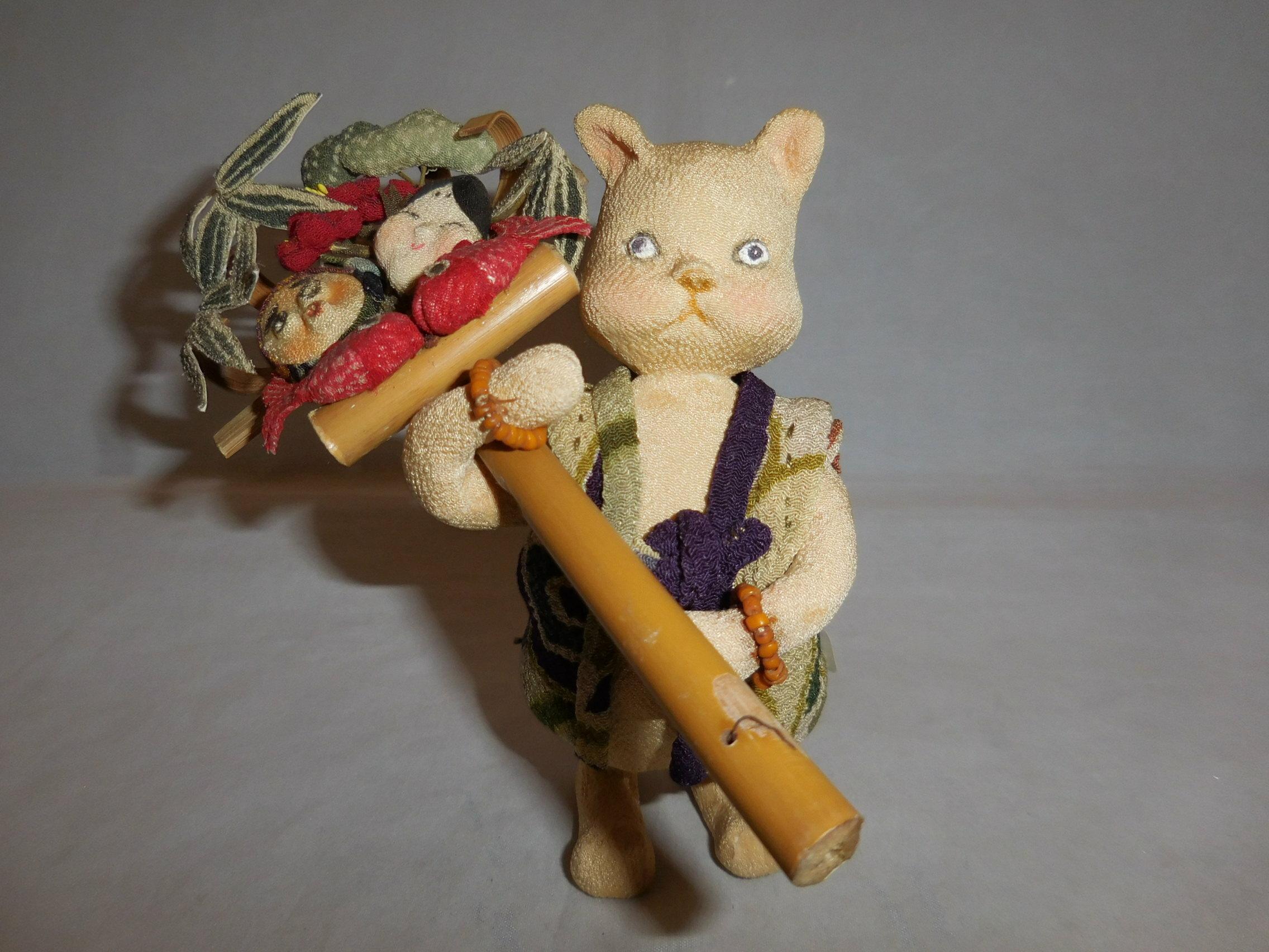 縮緬細工の猫 Chirimen work cat
