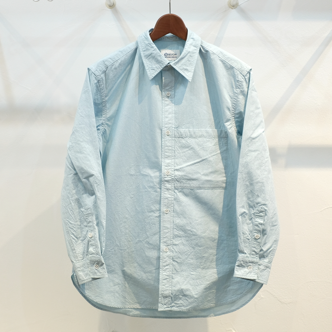 KUON(クオン) ファナージュコットンセミロングシャツ ミント