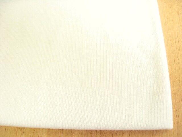 J&B定番 綿コーマ糸フライスニット オフホワイト #03 NTM-1638