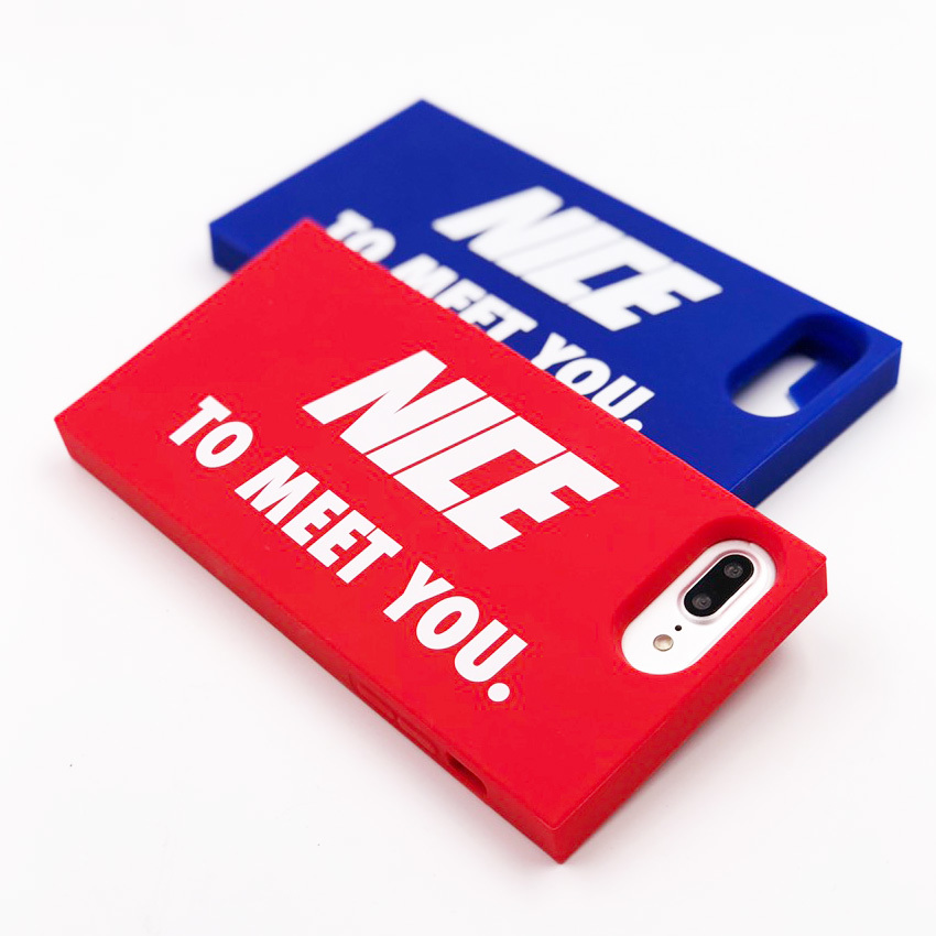 "SIMPLE CASE ""NICE TO MEET YOU"" for iPhone8/7/6s/6Plus"