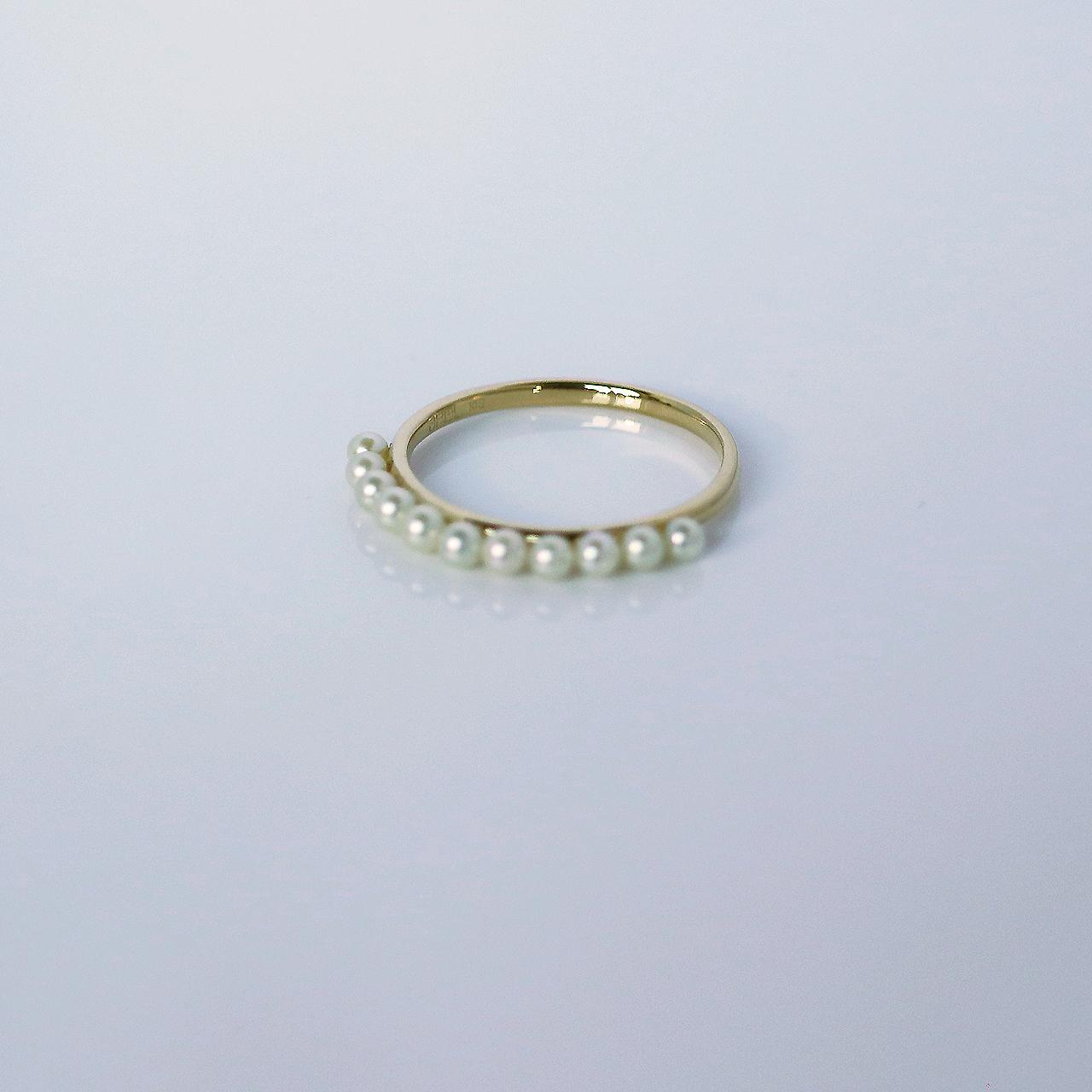 SUZURAN / Baby Pearl Ring (Yellow Gold)