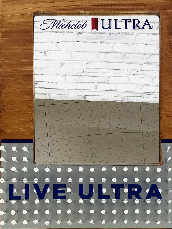 品番0453 パブミラー 『Michelob ULTRA(ミケロブ ウルトラ)』 壁掛 アート ディスプレイ アメリカン雑貨