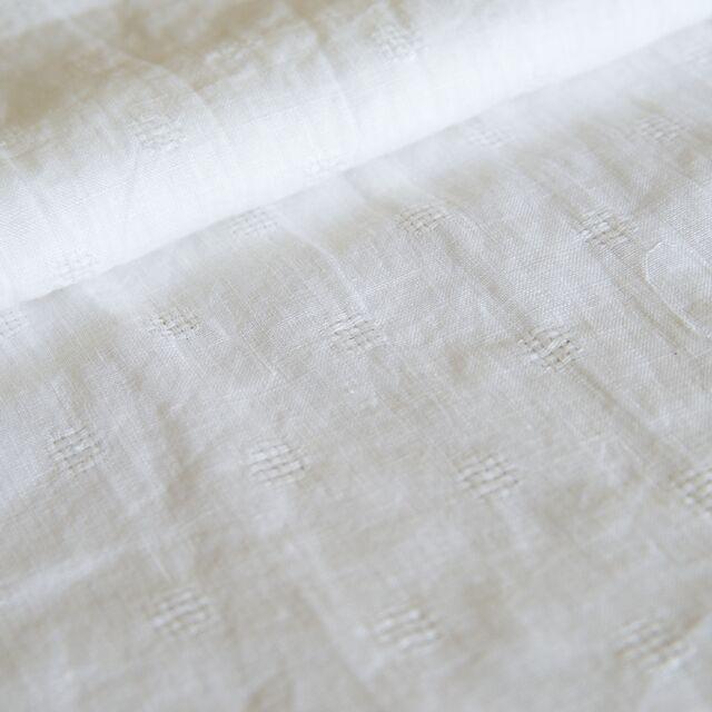 【香田あおいさん「きれいな服」掲載】リトアニアリネン/R99-1117 ホワイト