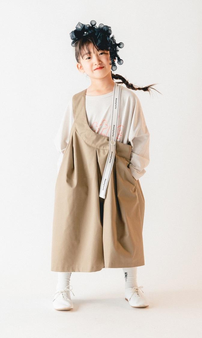 nunuforme ヌヌフォルム ワンサイドテープスカート size:95~115