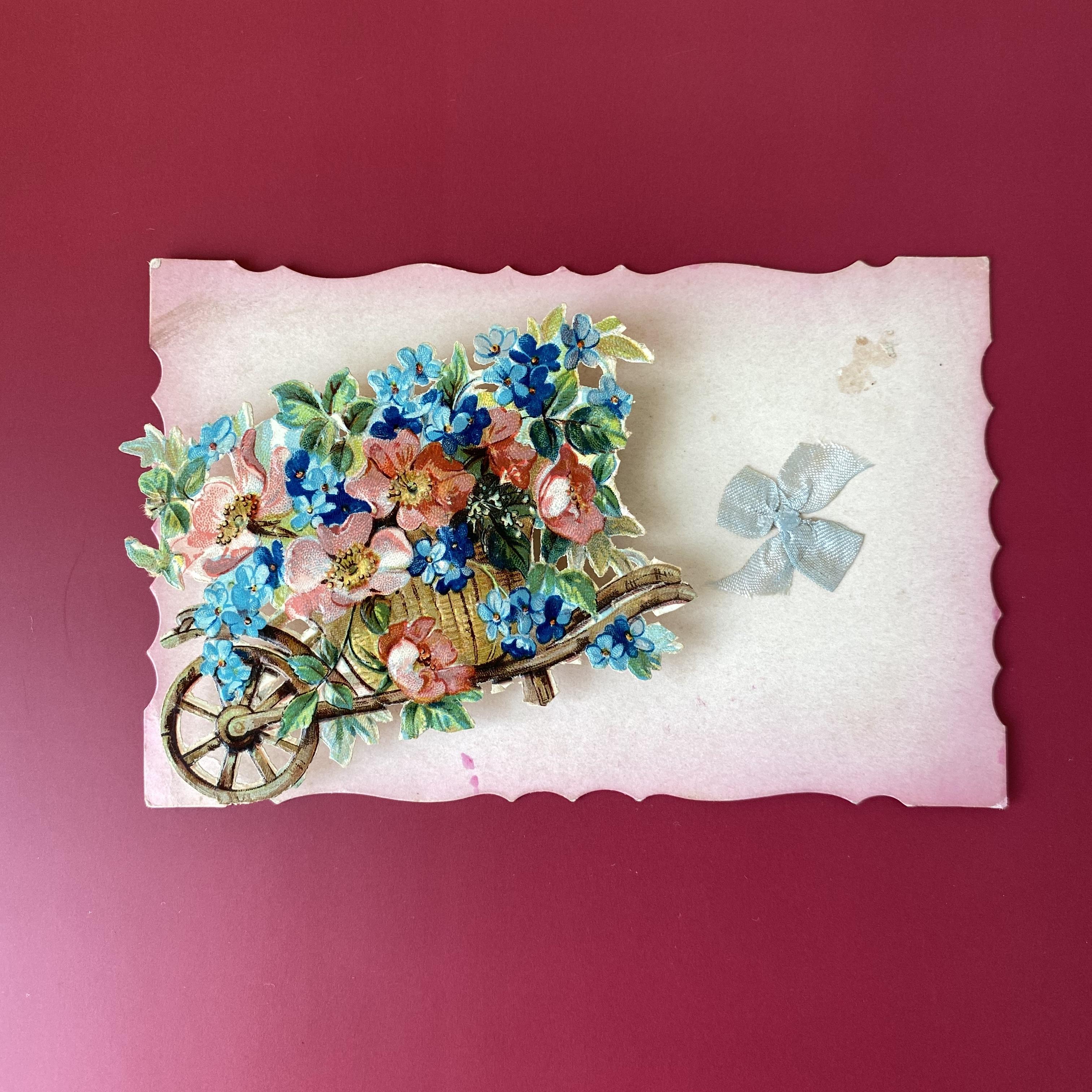 アンティーク薔薇のポストカード・e /  vp0141