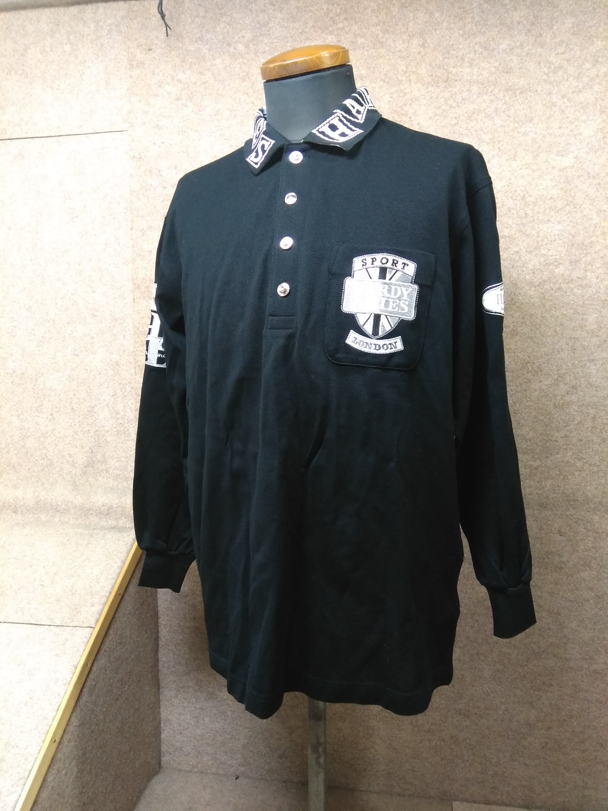 ハーディーエイミス HARDY AMIES ポロシャツ 長袖 L mh464s