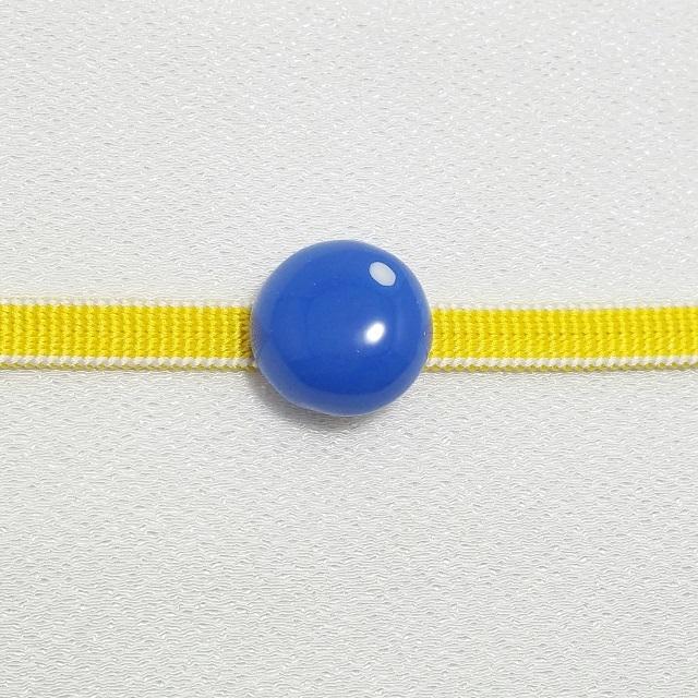 マメコロンカラー コロン帯留めブローチ【青】