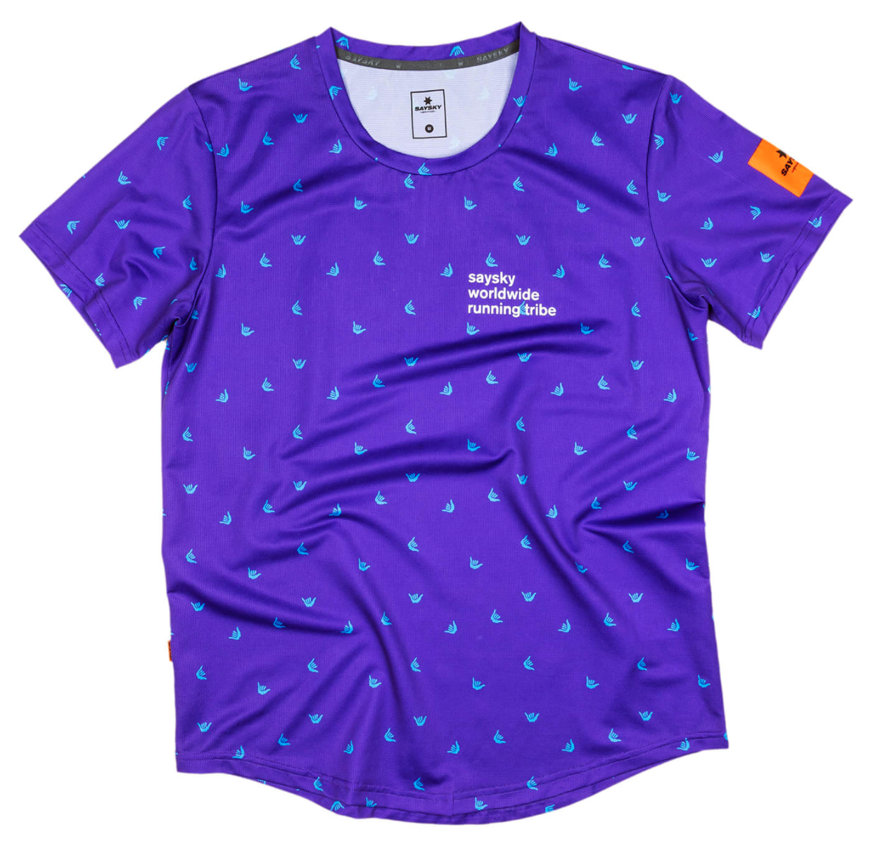 【10%OFF】SAYSKY ランニングTシャツ Shaka Combat Tee - PURPLE SHAKA PRINT [ユニセックス] FMRSS16