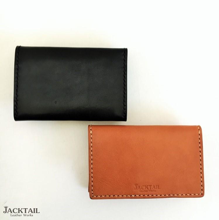 カードケース/栃木レザー 牛革(ナチュラルオイル、黒)