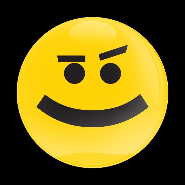 ゴーバッジ(ドーム)(CD1027 - EMOJI SMIRKING) - 画像1