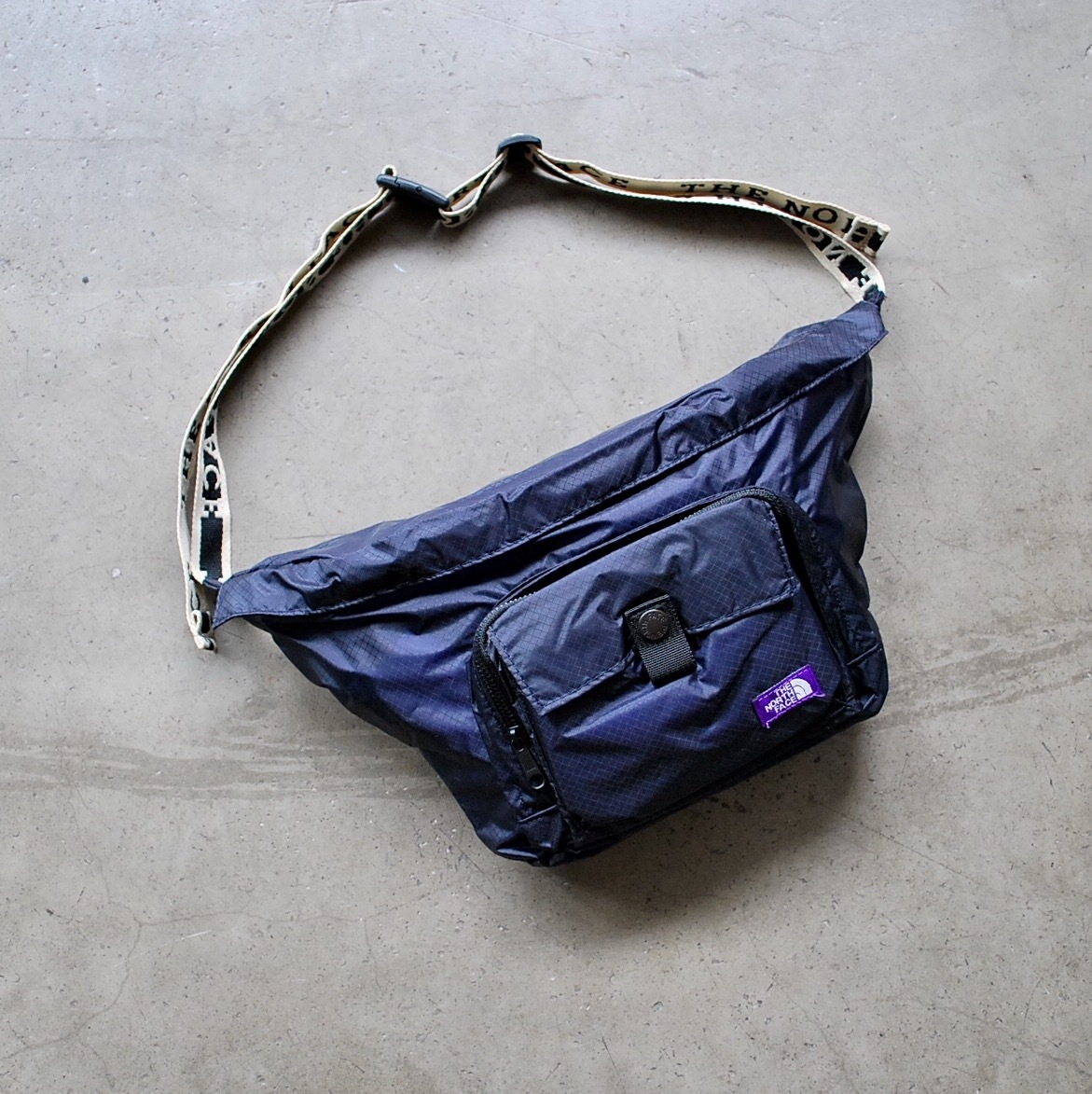 301bbffce THE NORTH FACE PURPLE LABEL Lightweight Logo tape Waist Bag | wagon powered  by BASE