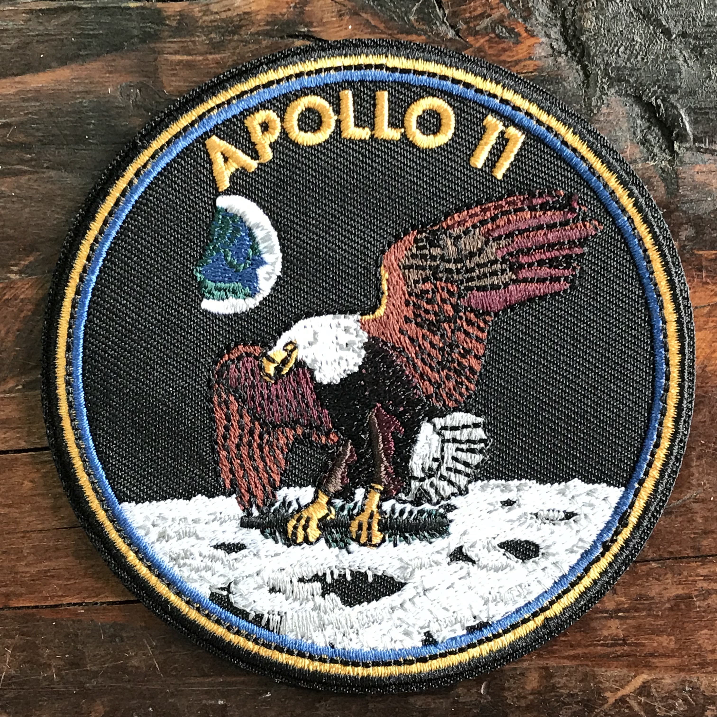 NASA公認(アメリカ航空宇宙局)ワッペン・アップリケ・アポロ11号