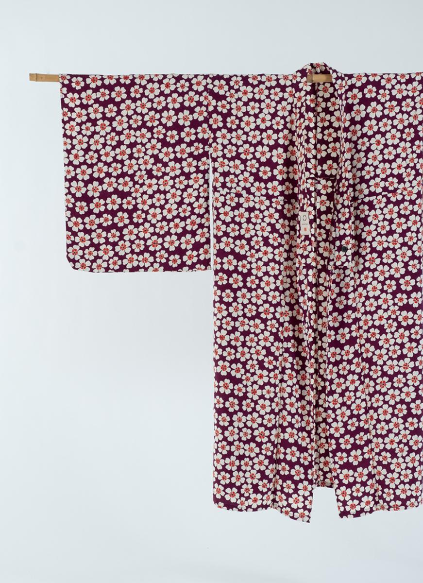 ハートの小花模様 NEW KIMONO 着物