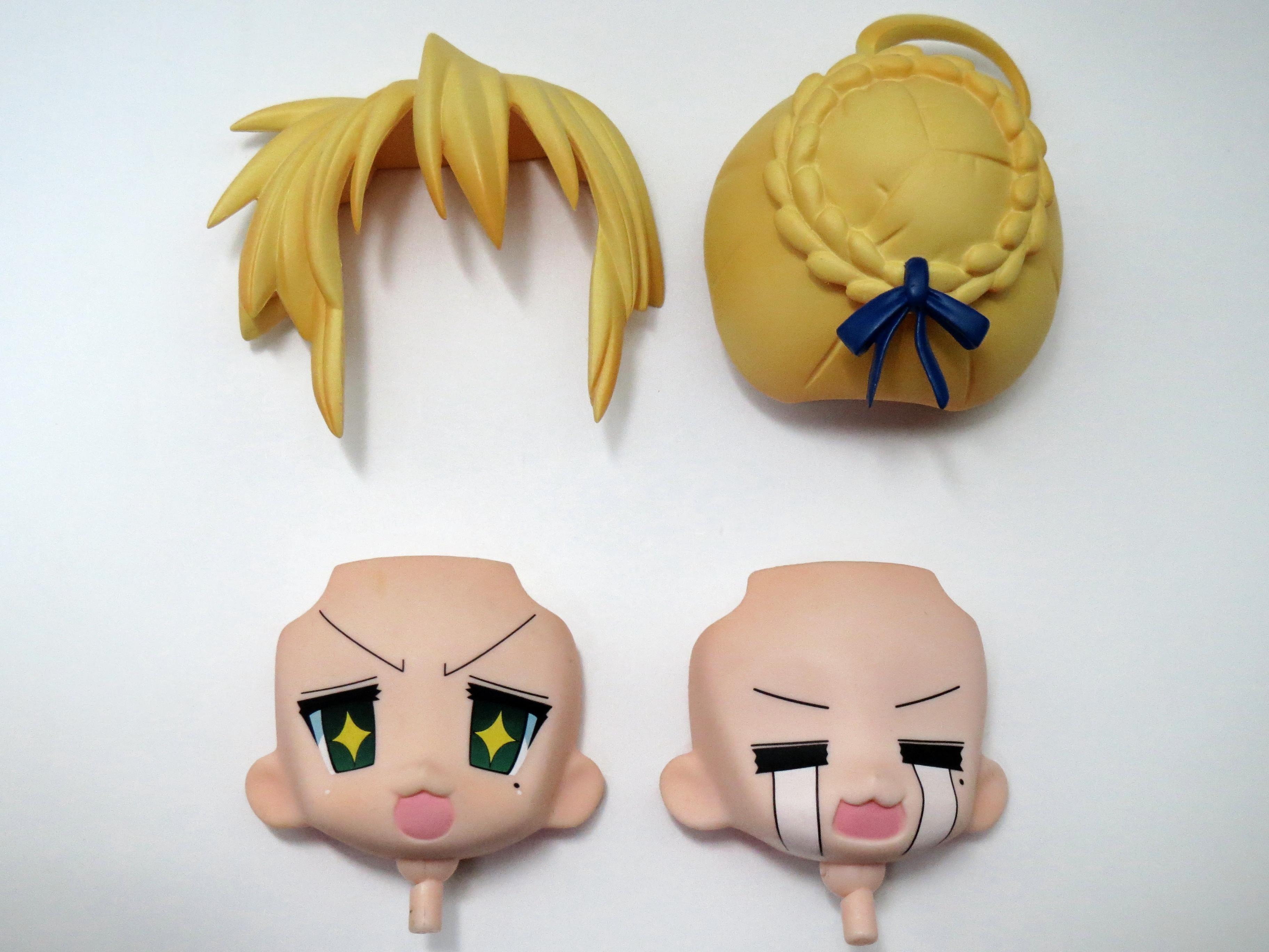 【034】 Fateコスプレ 泉こなた 髪パーツ、顔パーツ2種セット (Bランク) ねんどろいど