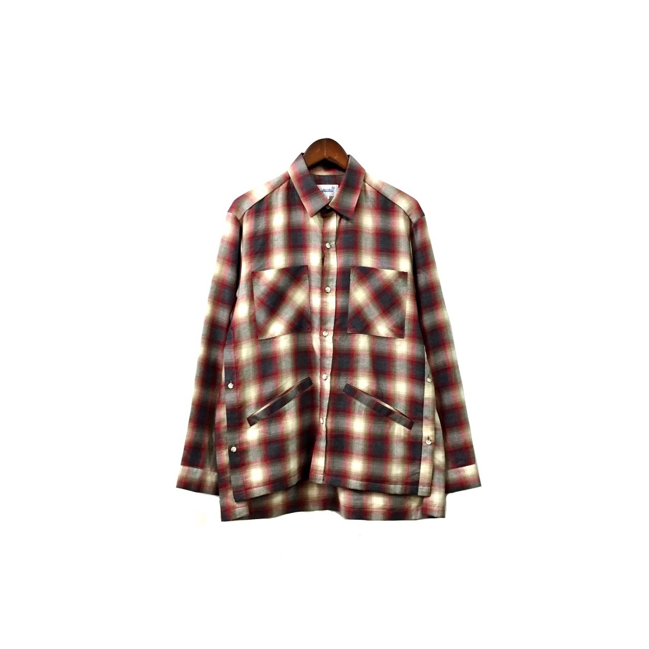 yotsuba - Cotton & Rayon Check Shirt / Red ¥22000+tax