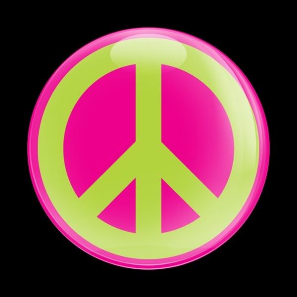 ゴーバッジ(ドーム)(CD0432 - SIGN PEACE PINK) - 画像1