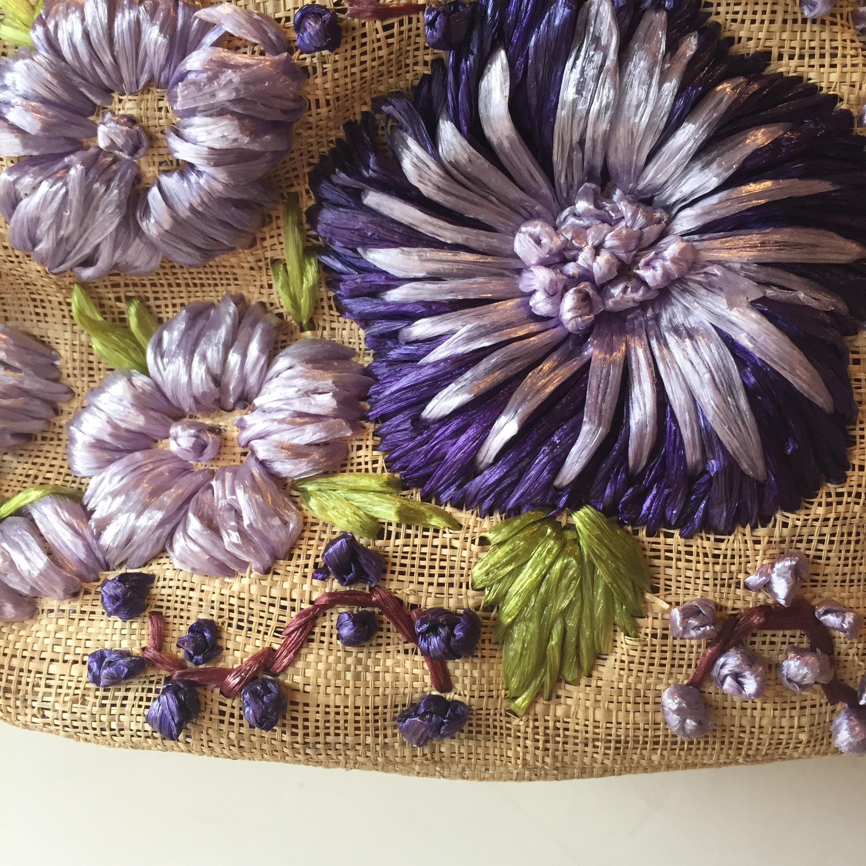 vintage embroidery design bag