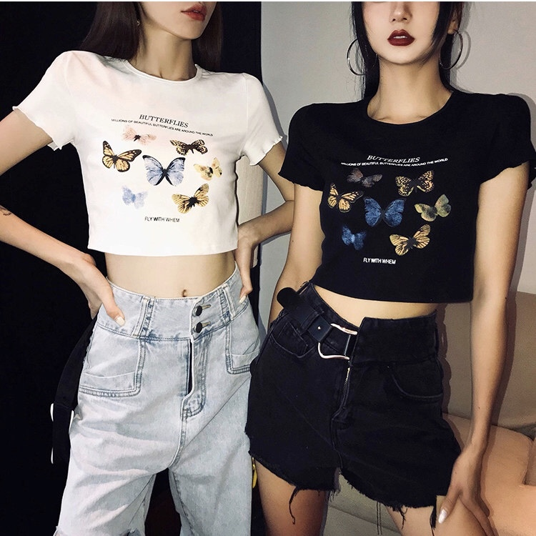many butterfly t-shirt