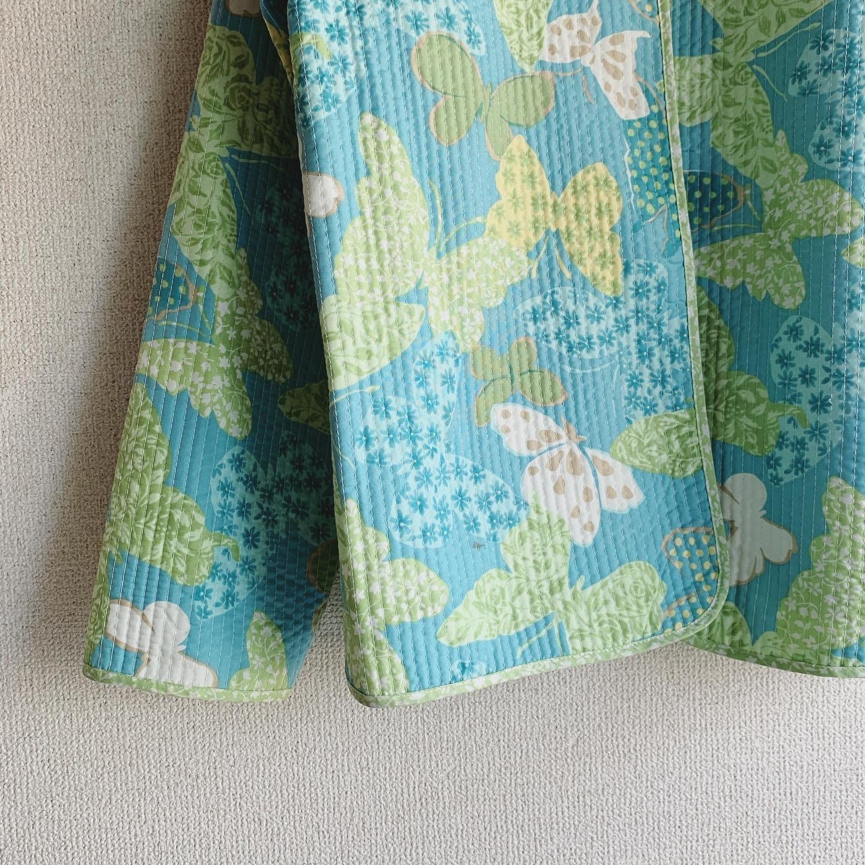 【SALE】vintage reversible butterfly design quilting jacket