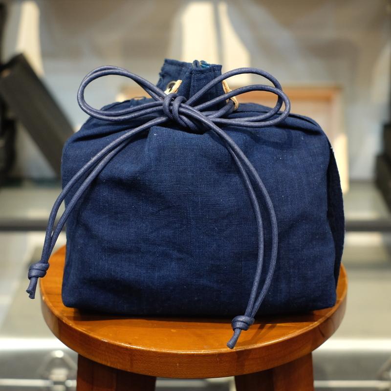 KUON(クオン) 襤褸・エルメスヴィンテージスカーフ 信玄袋(巾着袋) その1